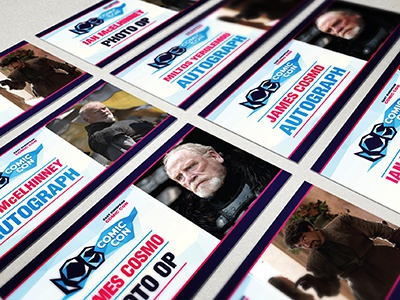 Invitations Ice ice actor autograph panel invitation tickets comic con graphic design