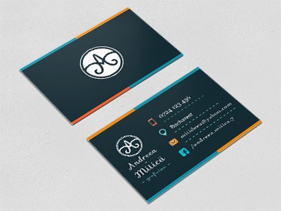 Freelancer business card designer identity brand business card graphic design