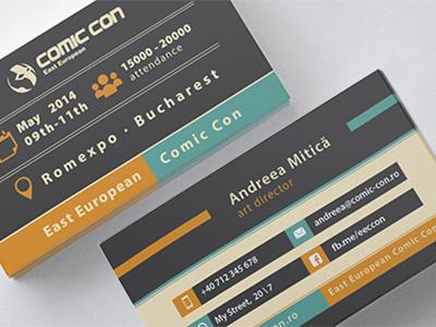 Comic con 2014 business card by andreea mitica dribbble carti de vizita lucca mockup eecc400 colourmoves