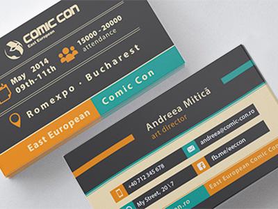 Comic Con 2014 Business Card design branding identity business card comic con east european comic con graphic design