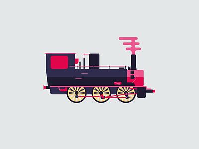 locomotive visual illustrator railway rail vector ride travel transport flat illustration locomotive train