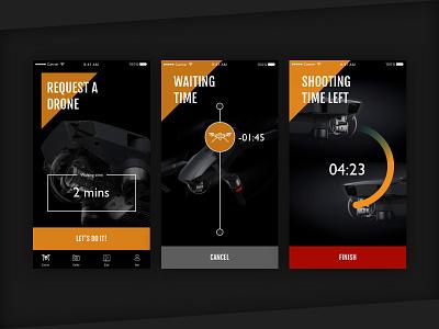 Drones 2 You app mobile experience technology journey hackathon service drone ui ux