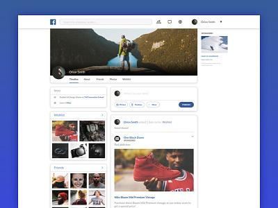 Facebook Profile Redesign - Concept social ux ui redesign concept profile facebook