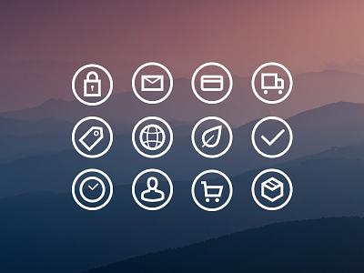 Narrative Icons e-com web icons