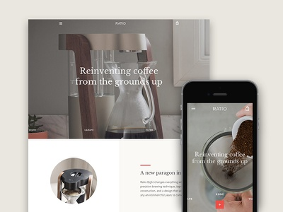 Narrative - Warm preset e-commerce theme web design shopify