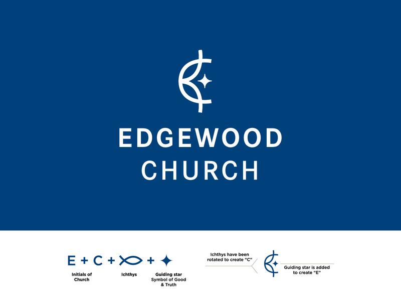Edgewood Church star fish church package jay master design monogram logo monogram badges typography illustration branding packaging identity logo