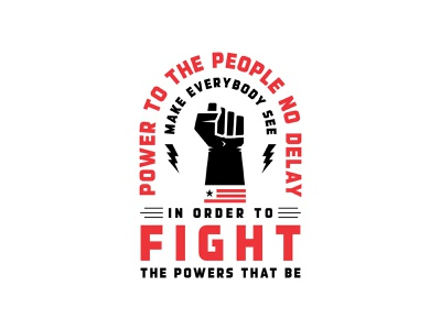 Fight the powers vote2020 usa flag fist blacklivesmatter typography custom typography print branding and identity illustration branding