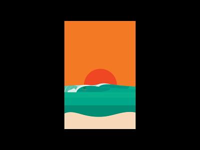 Surfs up waves surfer sunsets sunset ui brand identity logo wave logo brand print typography illustration branding wave surfing