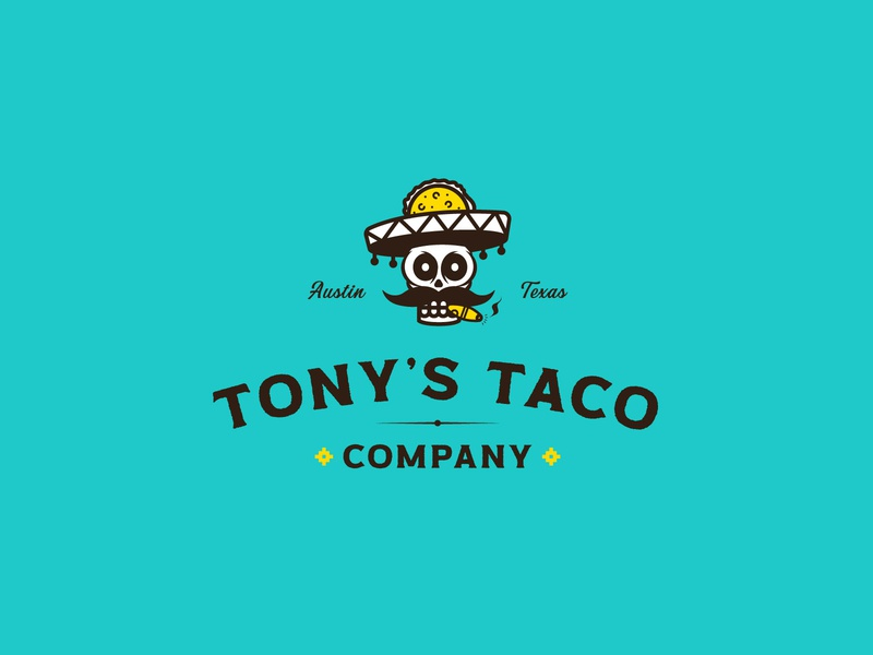 Tony's Taco print jay master design packaging design badges brand typography illustration branding packaging identity logo