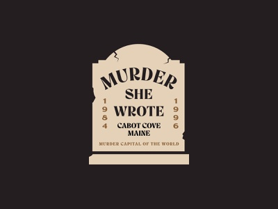 Murder She Wrote tv show tombstone jay master design illustration print badges typography branding packaging identity logo