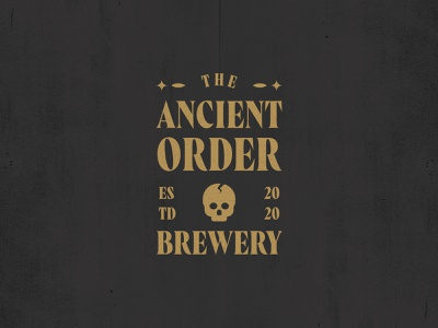 Ancient Order jay master design brewery ancient old can icon illustration typography skull identity beer branding design print branding logo
