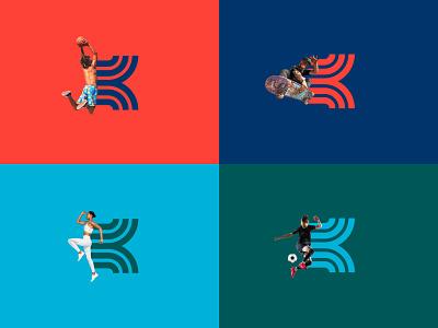 Kinetic - Part 3 ball sports skateboard fitness soccer running run runner basketball package badges print typography jay master design branding packaging identity logo