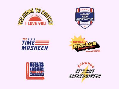 Idiocracy brawndo lightning illustration jay master design identity brand beer branding print typography idiocracy badge logo