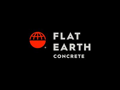 Flat Earth Concrete construction jay master design packaging illustration badges brand globe earth flat earth typography print identity logo concrete branding