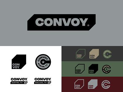 CONVOY custom type jay master design texas austin military convoy responsive branding print badges typography illustration branding packaging identity logo