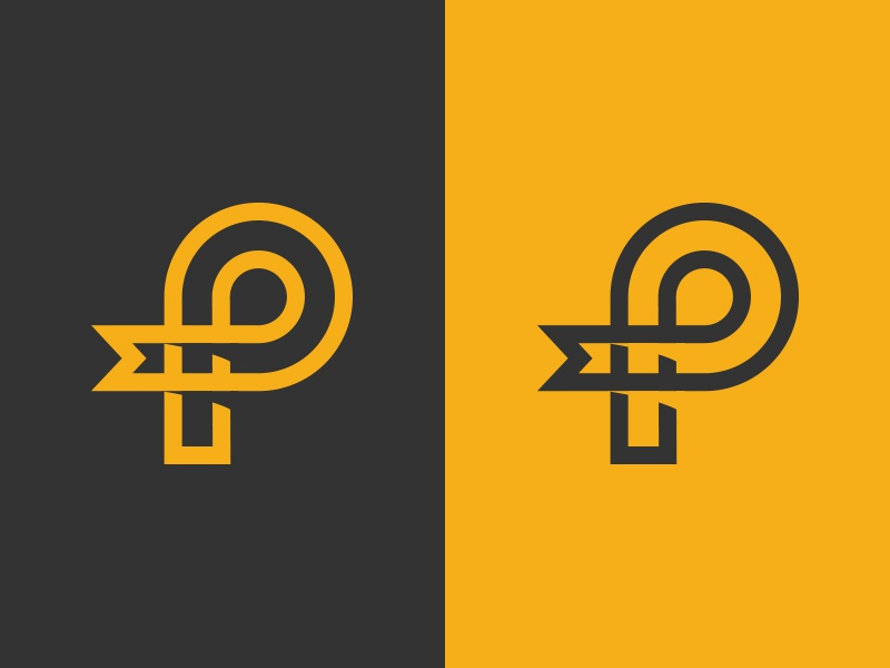 "Working on a ""P"" thing process idea logo graphic icon vector alphabet branding design illustration graphic design"