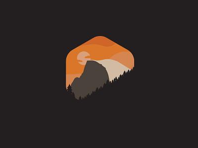 Yosemite Half Dome yosemite logo graphic badge nature alphabet half dome design illustration graphic design