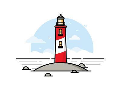 Lighthouse explore lighthouse logo graphic icon badge alphabet 7 days to create design illustration graphic design