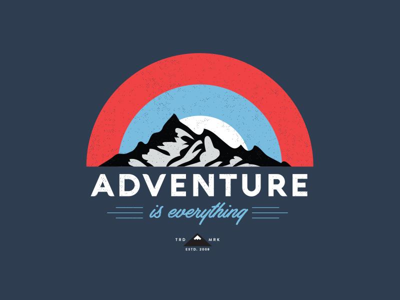 Adventure badge identity typography logo graphic icon vector alphabet custom type design illustration graphic design