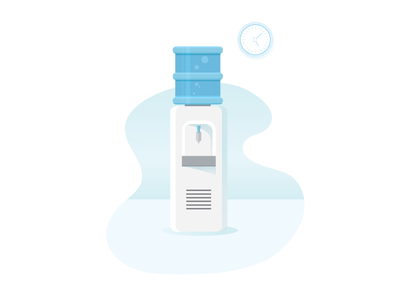 Water cooler water cooler watercooler business hr spot illustration custom blog illustration icon graphic design