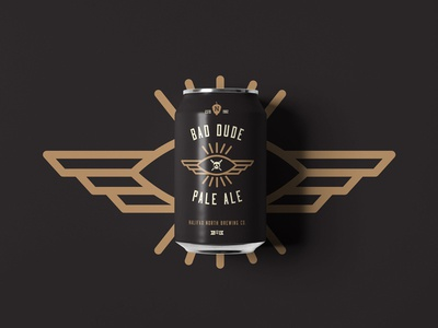 Bad Dude Pale Ale hop sword skull eye brewery can beer branding pale ale bad dude graphic design