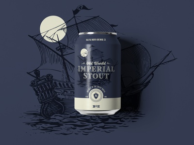 Old World Imperial Stout austin committee jay master design halifax north packaging cans beer