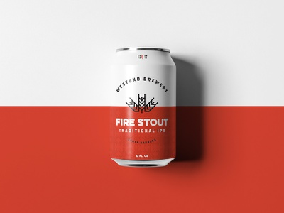 Westend Fire Stout craft beer california packaging austin committee jay master design westend brewery package design bottle cans beer