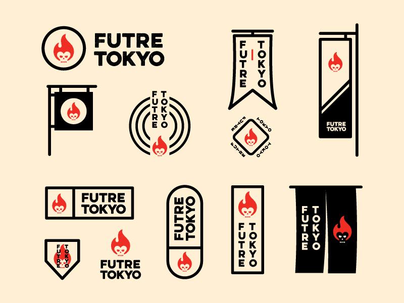Futre Tokyo explorations brand package branding identity logo badges apparel packaging
