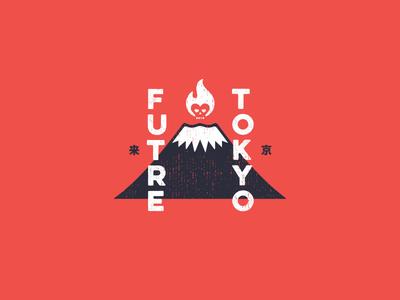 Future Tokyo Fuji skull mark logo package design skating packaging identity apparel branding futre tokyo