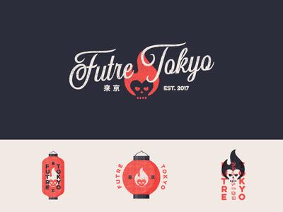 Futre Tokyo Rnd3 apparel typography logo lantern packaging future tokyo japan branding identity skull