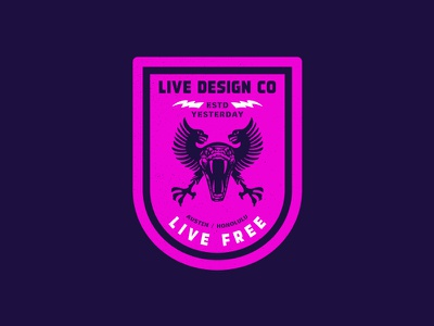 Live Free archive logo branding eagle identity packaging snake badge typography