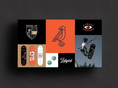 ZG | Presentation materials skating skateboard package design brand package branding identity logo badges apparel packaging