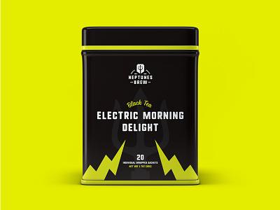 Neptune Brew trident poseidon package design brand package branding identity logo badges tea packaging