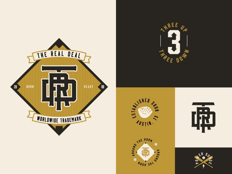 TRD apparel austin skull sports mark branding secondary logo packaging identity baseball