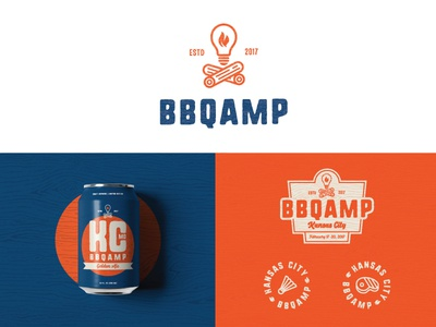 BBQAMP  | Part 1 can beer package design brand package branding identity logo badges barbecue packaging