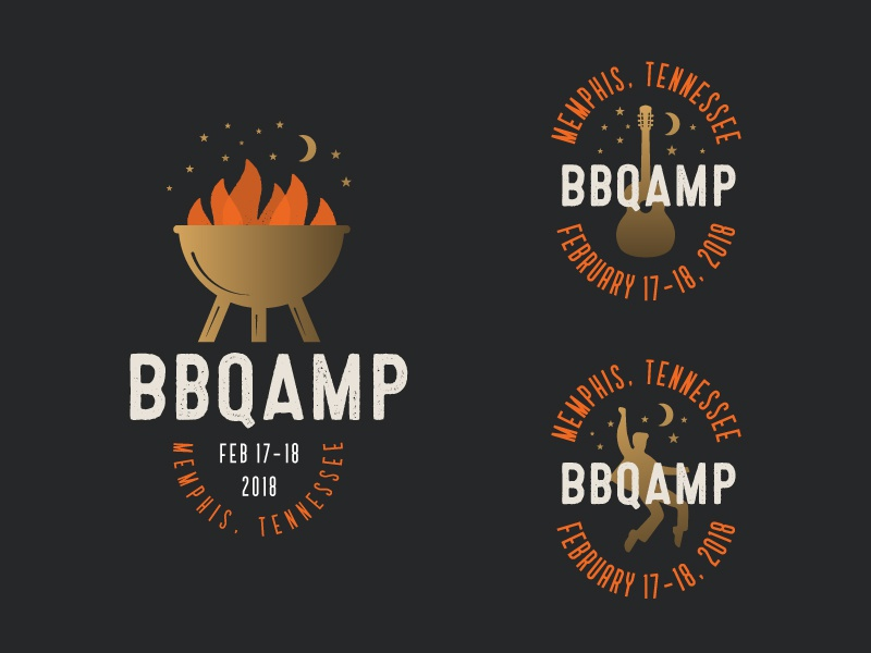BBQAMP  | Part 2 memphis food package design brand package branding identity logo badges barbecue packaging