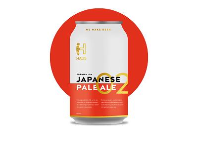 Haus - Japanese Pale Ale craft beer japan austin committee jay master design haus packaging bottle cans beer