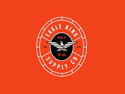 Eagle King skating skateboard package design brand package branding identity logo badges apparel packaging