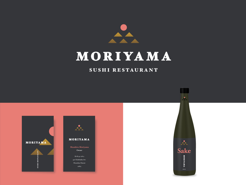 Moriyama austin design typography alcohol sake sushi japanese packaging identity branding illustration logo