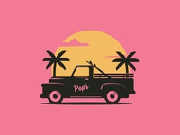 Pop's Surf - Sunset Tee Graphic
