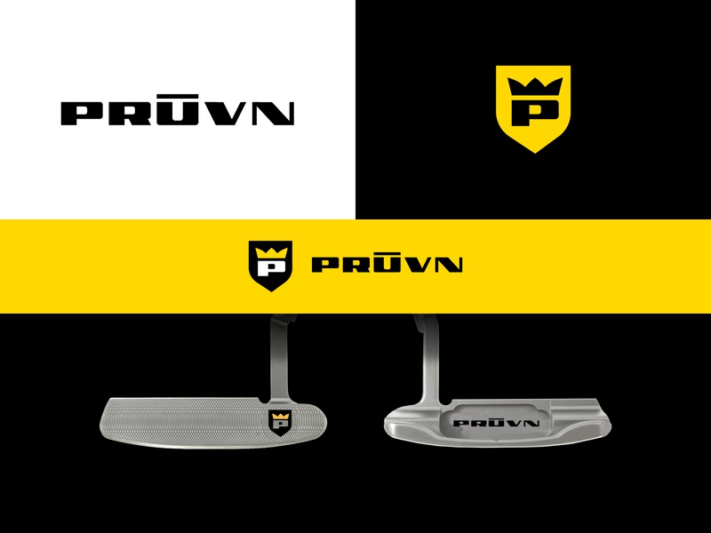 Pruvn Putters - Part 1 apparel jay master design package badges brand typography design branding identity packaging logo golf club golf ball putter golf