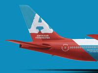 A = Airplane + American Typewriter
