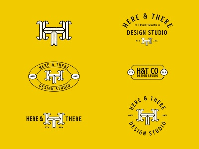 Here & There austin custom type package design jay master design apparel package brand badges typography graphic design branding illustration packaging identity logo