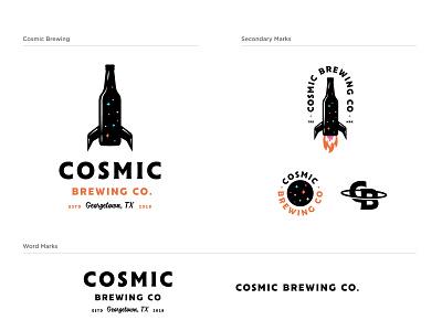 Cosmic Brewing skating graphic alphabet vector austin typography package design package brand beer jay master design guidelines design badges branding illustration packaging identity logo