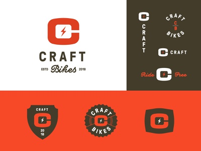 Craft Bikes bike custom type alphabet package design apparel badges jay master design package brand graphic design typography branding illustration packaging identity logo