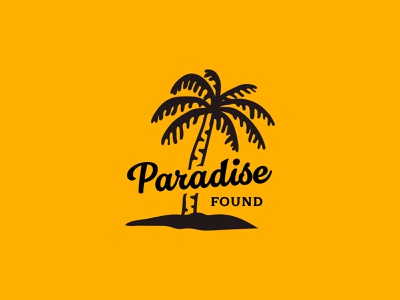 Paradise Found costarica palm paradise jay master design design badges typography branding packaging identity logo illiustration