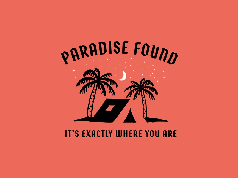 Paradise Found custom type package design apparel jay master design design badges brand typography graphic design illustration branding packaging identity logo