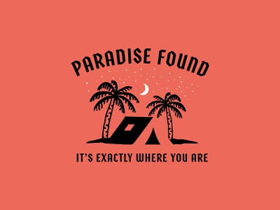 Paradise Found custom type package design apparel jay master design design badges brand typography graphic design illustration branding packaging identity logo