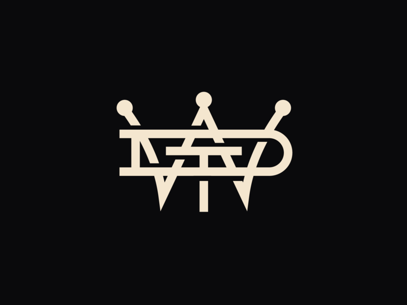 Win the Day apparel icon jay master design monogram logo monogram badges brand graphic design typography branding packaging identity logo
