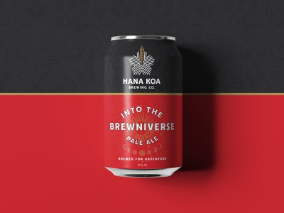 Hana Koa topography adventure moon can beer badges jay master design typography illustration branding packaging identity logo